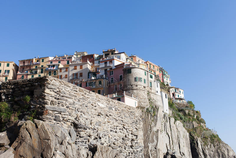 Manaroladorp, Cinque Terre, Italië royalty-vrije stock fotografie