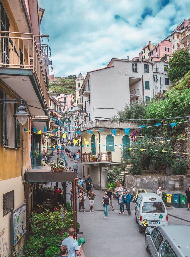 Manarolla, Cinque Terre, Italië stock fotografie