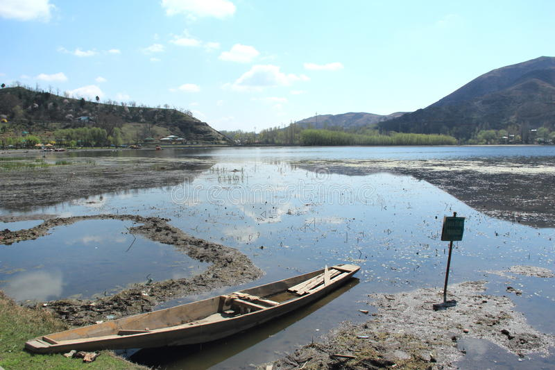 Manas-Bal Lake In Srinagar. royalty free stock photography
