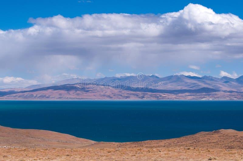 Manasarovar湖:旅行在西藏 库存图片