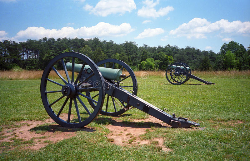 Manassas National Battlefield Park. Canon at Manassas American Civil War battlefield site in Virginia stock photography