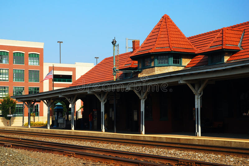 Manassas Ttrain Station. The train station at Manassas, the last stop on the Virginia Railway Experess stock image