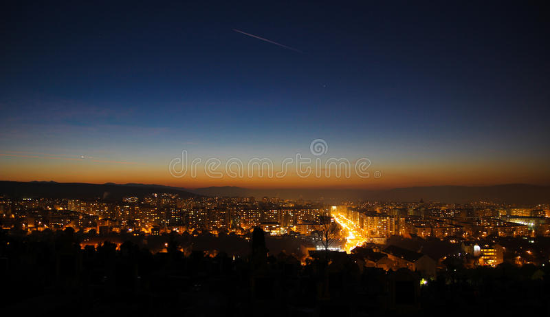 Manastur neighbourhood after the working hours. royalty free stock image