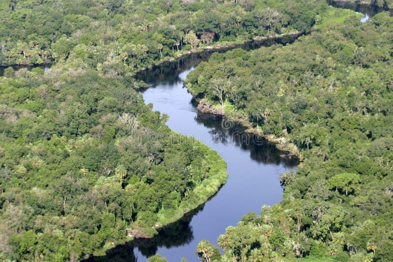 Manatee River. Aerial photo of Manatee River stock image