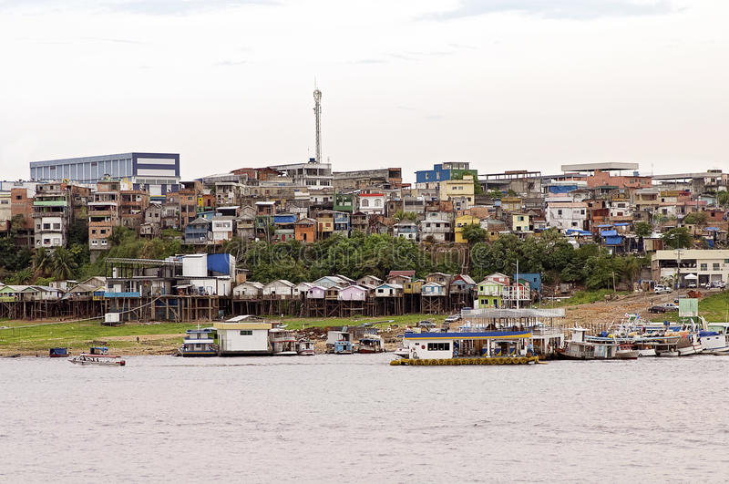 Manaus, Brazil. Amazon River and the City of Manaus, Brazil stock image