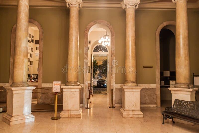 MANAUS BRAZYLIA, LIPIEC, - 26, 2015: Wnętrze Teatro Amazonas, sławny theatre budynek w Manaus, Braz fotografia stock