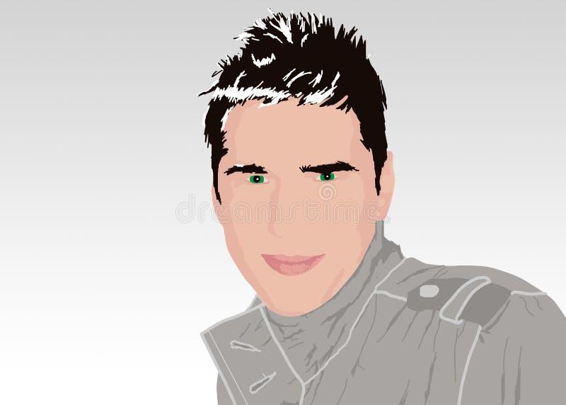 Download Manbarn stock illustrationer. Illustration av trace, fella - 501241