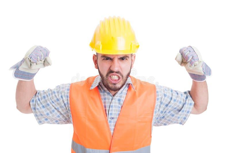 Manbyggnadsarbetare eller byggmästare royaltyfria foton