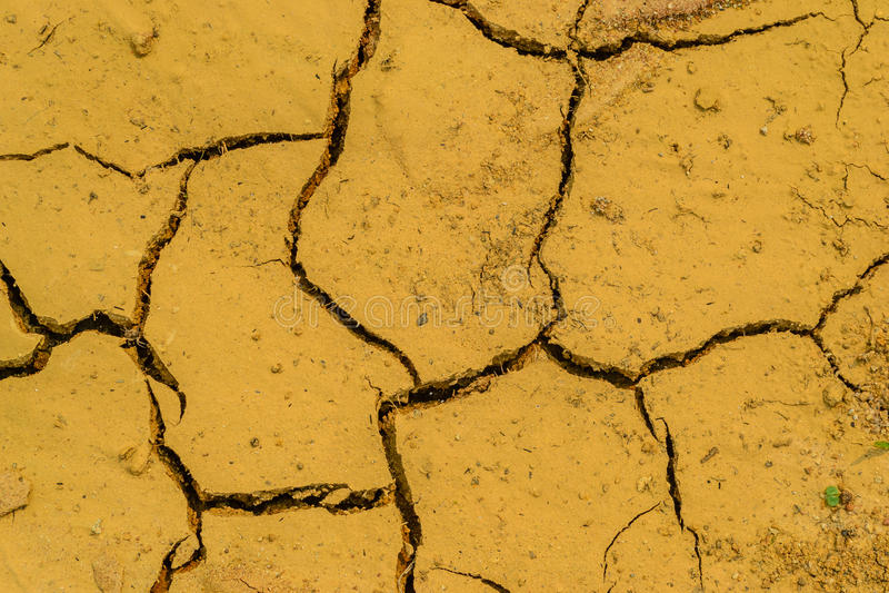 Mancanza del suolo asciutto di acqua immagine stock libera da diritti