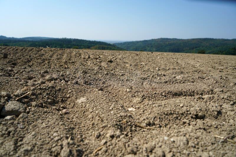 Mancanza di cavo del mutamento climatico e di piovosità allo stato secco e siccità alle temperature elevate immagine stock