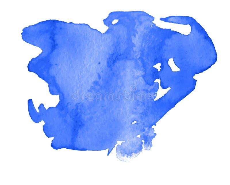 A mancha abstrata colorida da textura da aquarela com espirra e respinga imagens de stock