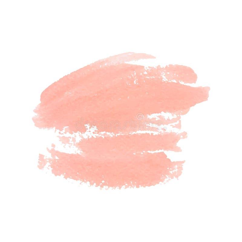Mancha artística do pêssego da aquarela Ilustração do vetor imagens de stock