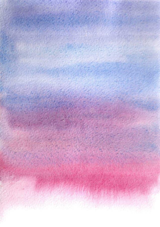 Mancha azul-cor-de-rosa da aquarela, fundo, gota, textura ilustração royalty free