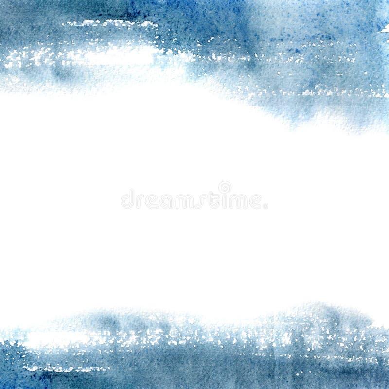 Mancha azul da aquarela, fundo, gota, textura imagens de stock