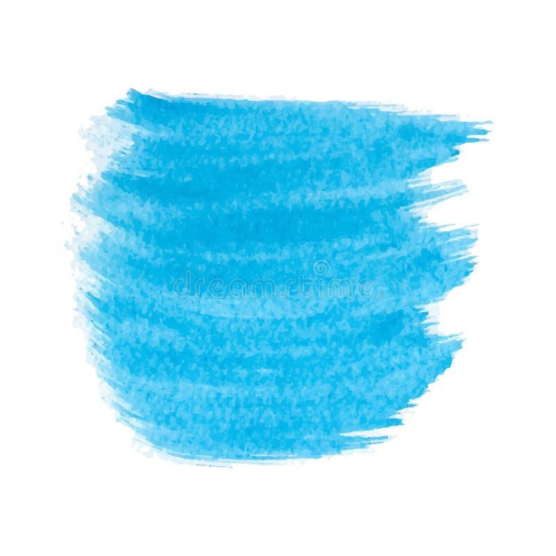 Download Mancha azul de la acuarela ilustración del vector. Ilustración de acrylic - 100525697