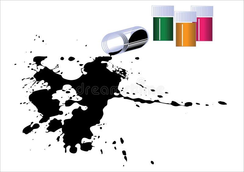 Mancha blanca /negra libre illustration