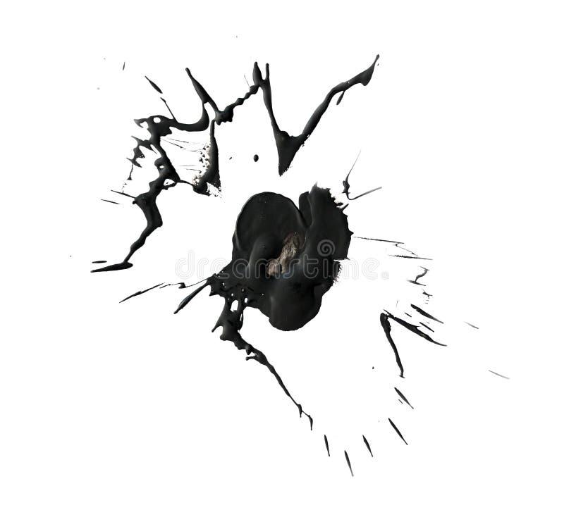 Mancha blanca /negra negra de la cera caliente fotos de archivo