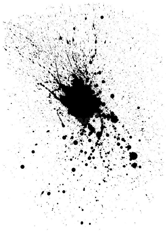 Mancha blanca /negra de la tinta ilustración del vector