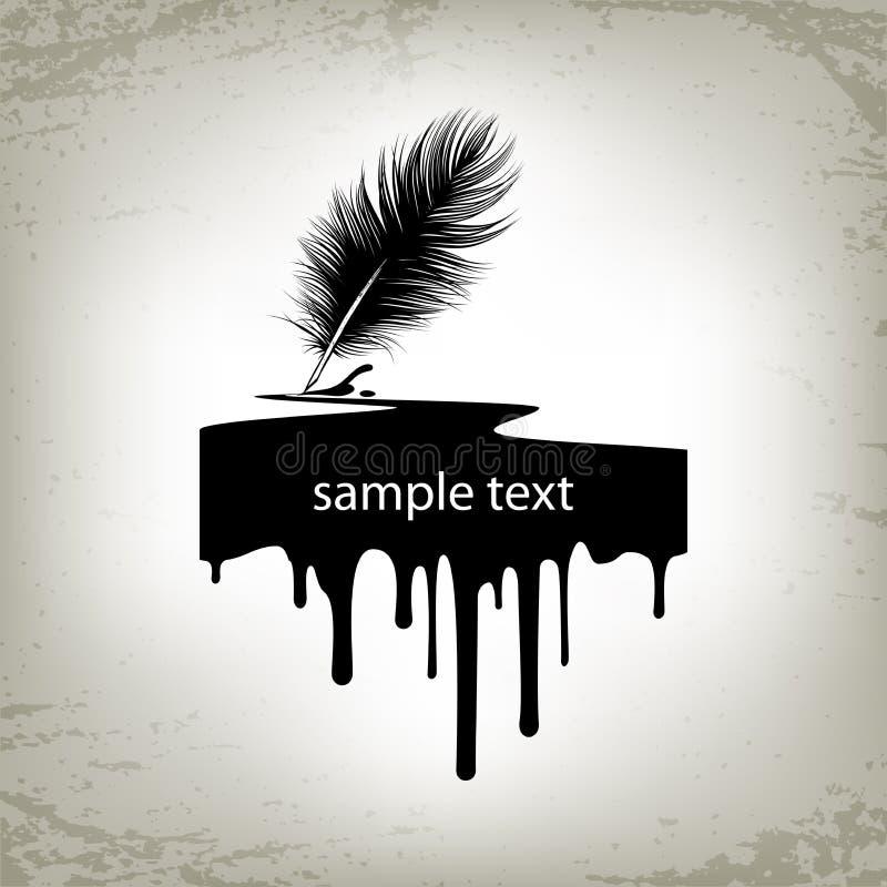 Mancha blanca /negra de la tinta de la pluma libre illustration