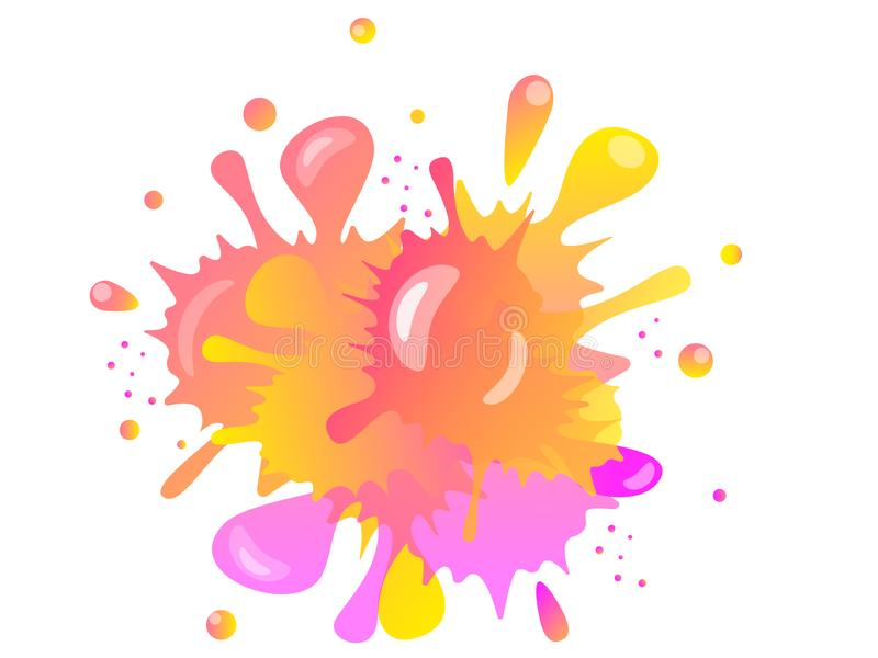 Mancha blanca /negra multicolora abstracta con puntos culminantes Las manchas esc?nicas derramaron y mezclaron la pintura Arte su stock de ilustración
