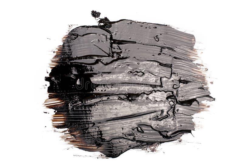 Mancha blanca /negra negra del alquitrán foto de archivo