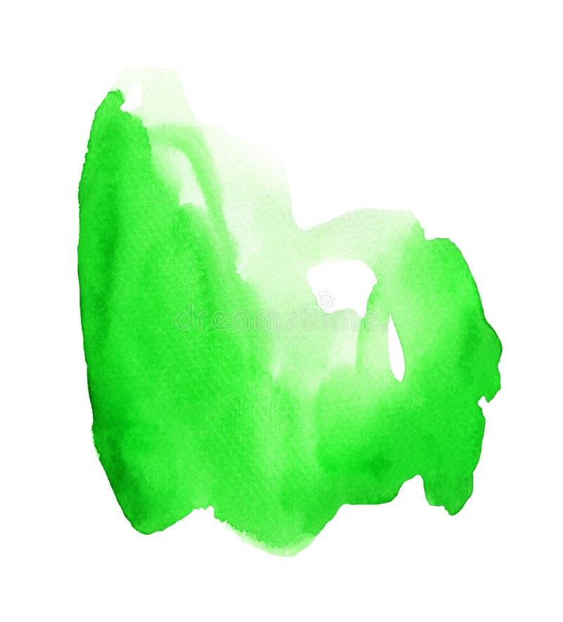 Mancha brillante de la acuarela verde foto de archivo
