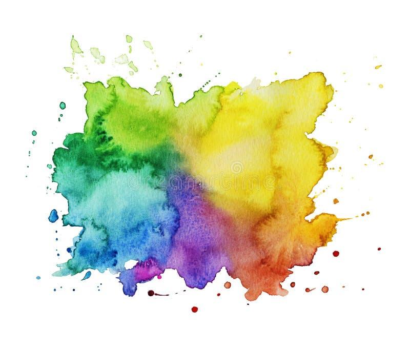 Mancha colorida da aguarela ilustração do vetor