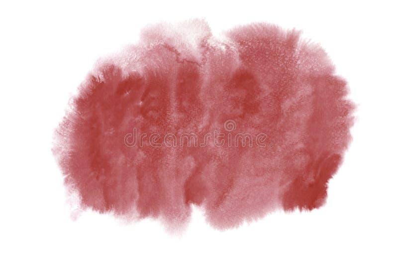 Mancha cor-de-rosa brilhante da aquarela ilustração royalty free