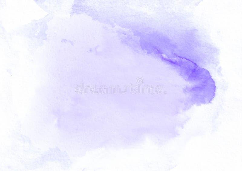 Mancha corriente de la pendiente púrpura de la acuarela Él ` s un buen fondo para las tarjetas del día de San Valentín, letras de fotos de archivo libres de regalías