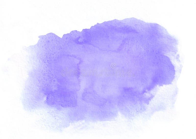 Mancha corriente de la pendiente púrpura de la acuarela Él ` s un buen fondo para las tarjetas del día de San Valentín, letras de fotos de archivo