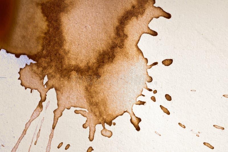 Mancha de óxido del café imagen de archivo