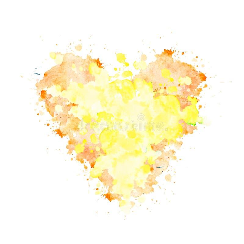 Mancha de la acuarela en la forma de un corazón libre illustration