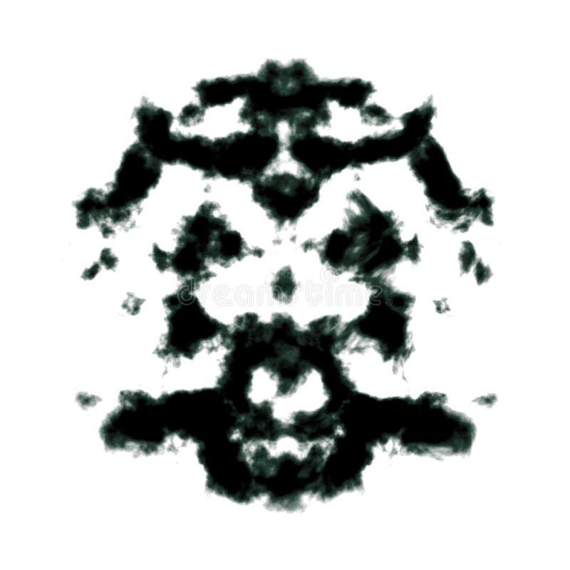 Mancha de tinta de Rorschach ilustración del vector