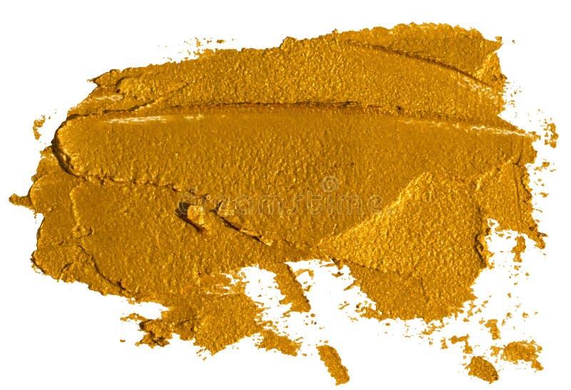 Mancha del sombreador de ojos de oro machacado libre illustration