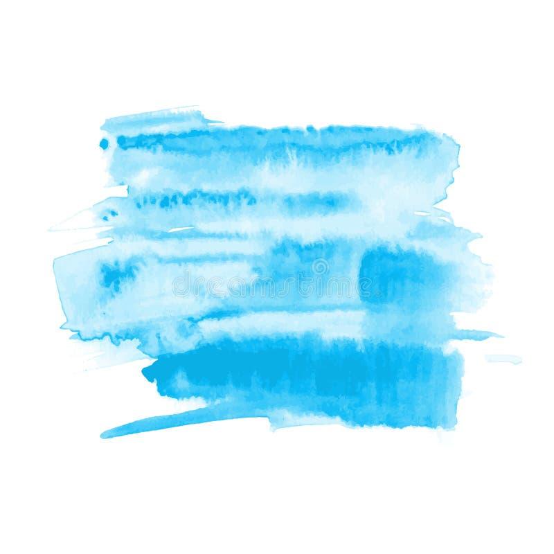Mancha dibujada mano del cepillo de la acuarela del vector Movimiento pintado colorido ilustración del vector