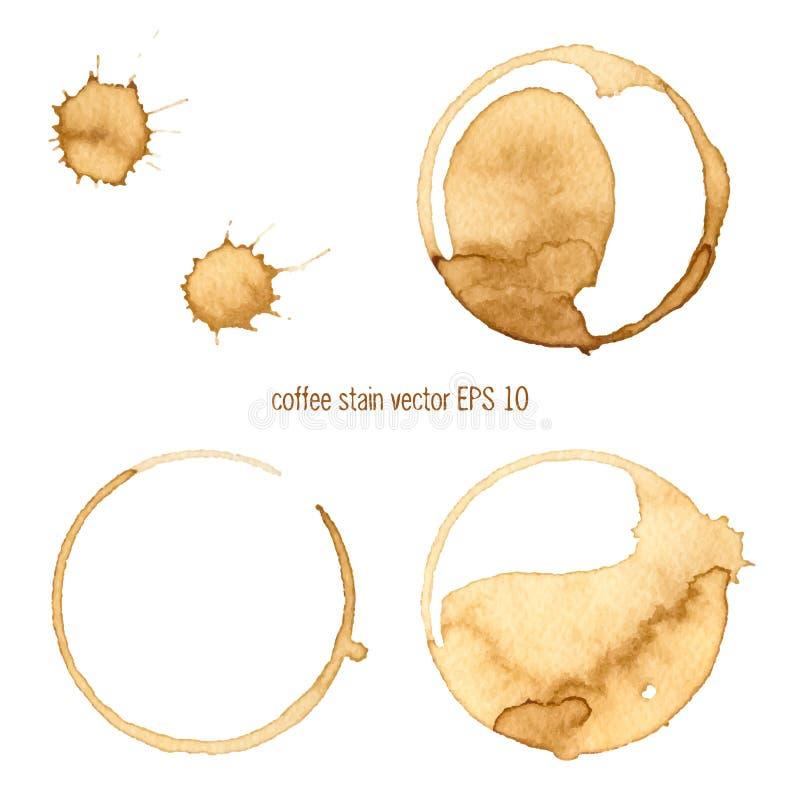 Mancha do café ilustração stock