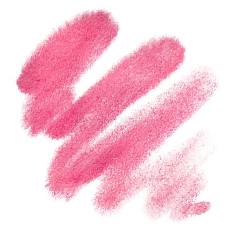Mancha do rosa da aquarela, fundo, gota, textura ilustração royalty free