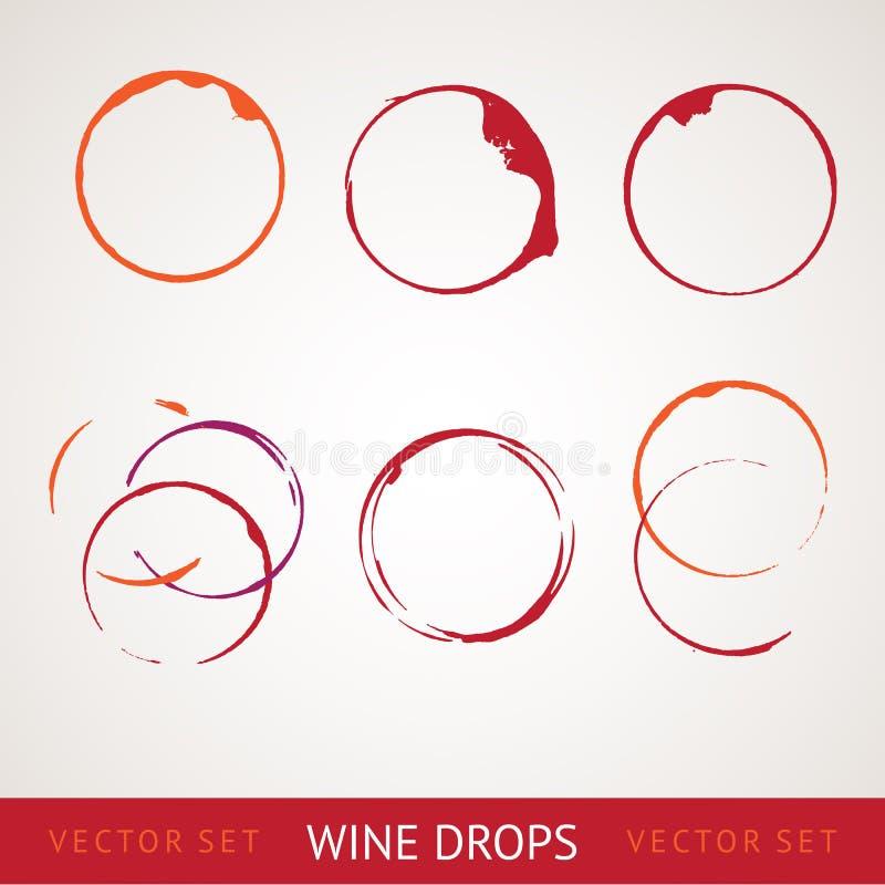 Mancha do vinho tinto ilustração do vetor