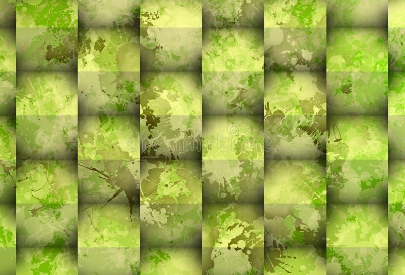Mancha esverdeado com cubos ilustração stock