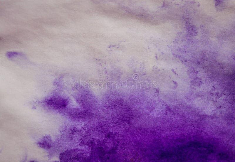 mancha púrpura de la tinta en una hoja del Libro Blanco, macro imagenes de archivo