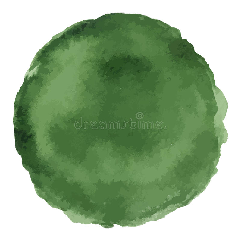 Mancha pintada acuarela verde oscuro brillante del vector libre illustration