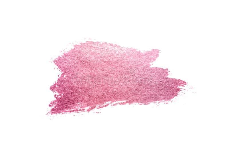 Mancha rosada abstracta de la acuarela en el fondo blanco para su dise?o foto de archivo libre de regalías