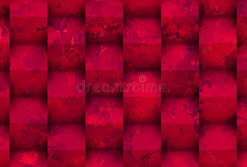 Mancha roxa com cubos ilustração do vetor