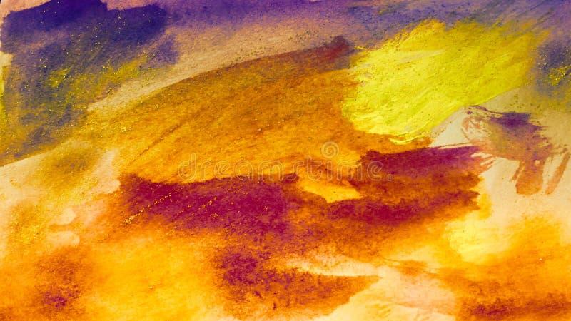 Mancha seca de las pinturas acrílicas Fondo pintado a mano abstracto creativo Movimientos de pintura de acrílico en lona Arte mod imagen de archivo
