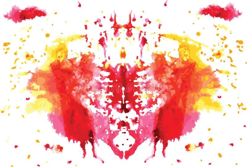 mancha simétrica de Rorschach da aquarela imagem de stock