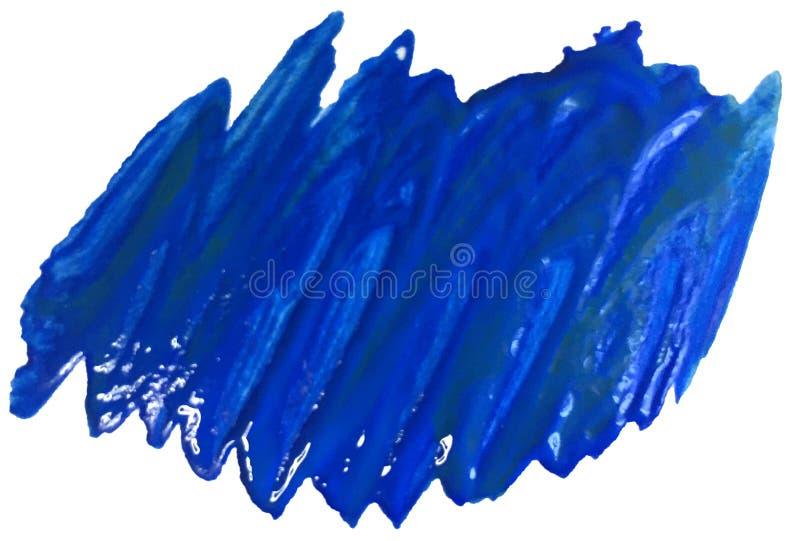 Mancha texturizada azul de acrílico con los movimientos del cepillo ejemplo de la trama para el logotipo y los carteles imagen de archivo