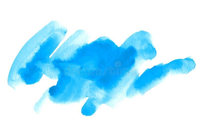 Mancha tirada mão da escova da aquarela do vetor Curso pintado colorido Fundo escovado efeito da aquarela ilustração do vetor