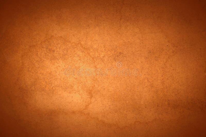 Mancha vieja anaranjada quemada del agua del fondo foto de archivo libre de regalías