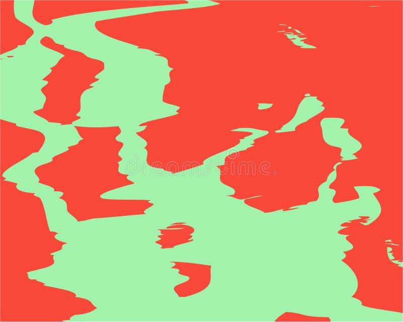 Manchas alaranjadas verdes coloridas brilhantes do fundo do sumário ilustração royalty free