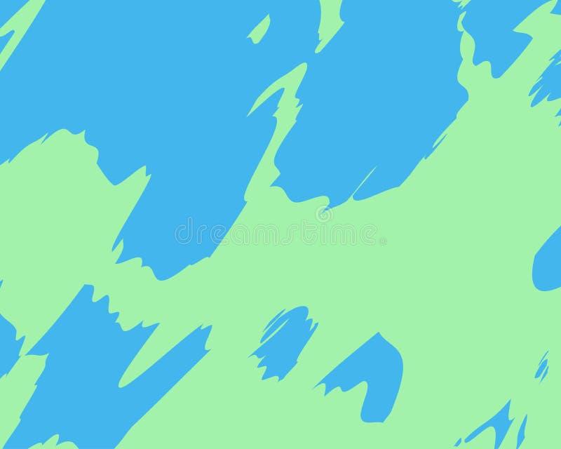 Manchas azuis verdes coloridas brilhantes do fundo do sumário ilustração stock